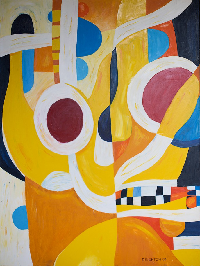 By the Hand of Pancho Villa, an abstract expressionist oil on canvas painting by Waiheke Island, New Zealand artist Simon Deighton