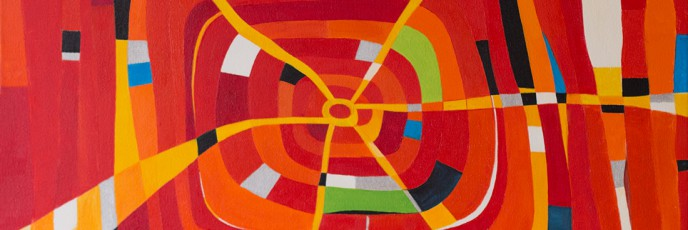 Web 2, 2003, abstract painting by artist Simon Deighton