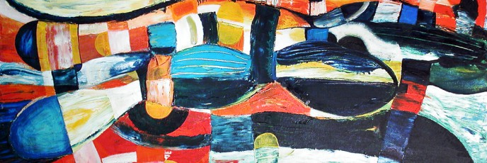 Dancing Ants, Oil on Canvas, painting by Simon Deighton, 2002